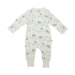 Woodland Dream Organic Long Sleeve Sleepsuit with Zip