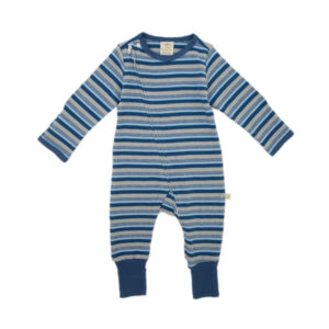 Marble Stripes Organic Long Sleeve Sleepsuit with Zip