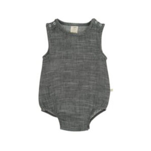 Grey Chambray Organic Bubble Romper