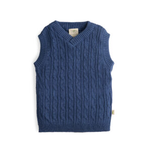 Sapphire Organic Knitted Vest