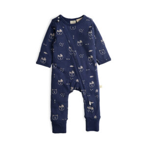 Bear Hugs Long Sleeve Organic Sleepsuit with Zip