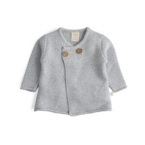Grey Marle Organic Knitted Wrap Sweater