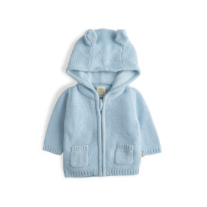 Baby Blue Organic Knitted Hoodie