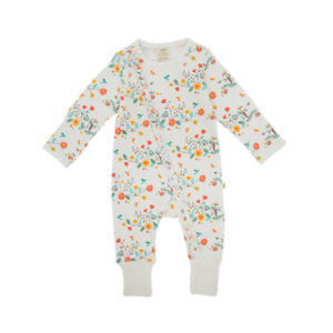 Rainbow Florals Long Sleeve Sleepsuit with Zip