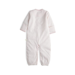 Pink Stripes Organic Convertible Sleepsuit