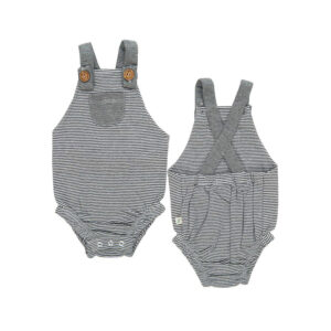 Graphite Stripes Organic Romper