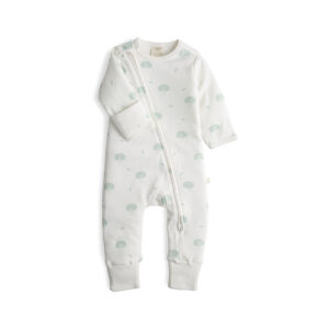 Wish Tree Organic Long Sleeve Sleepsuit with Zip