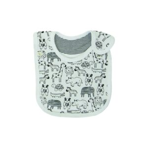 Baby Reversible Bandana Bib- Jungle Jive | Organic Cotton | Tiny Twig