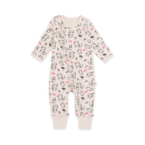 Crafty Cat Organic Long Sleeve Sleepsuit with Zip