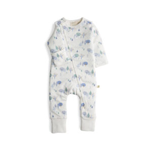 Arctic Trail Long Sleeve Organic Sleepsuit with Zip