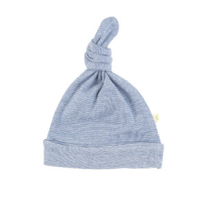 Navy Stripes - Knotted Beanie