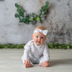 Long Sleeve Sleepsuit with zip - Porcelain Floral