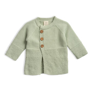 Girls-Knitted-Cardigan-Sage-Front