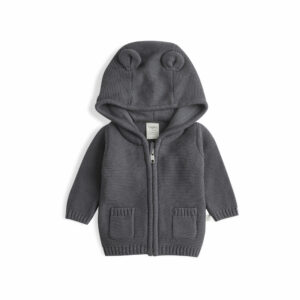 Soft Grey - Knitted Hoodie