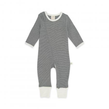 Diamond Stripes Organic Long Sleeve Sleepsuit with Zip