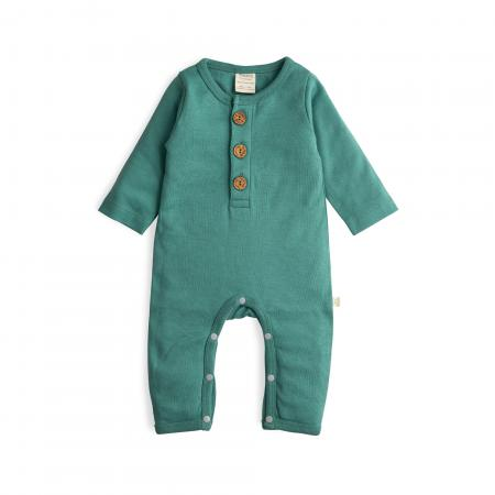 Winter Green Organic Button Up Sleepsuit