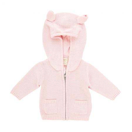 K7 - Knitted Hoodie - Soft Pink